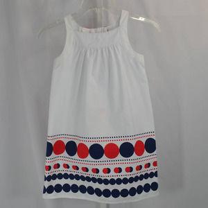 Gymboree White Cotton Sleeveless Dress Bow 7 NWT
